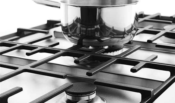 induction cooktop with gas burner