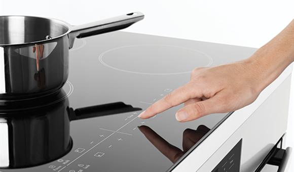 Stylish touch-on-glass controls