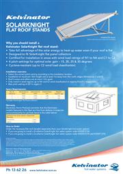 Kelvinator Solarknight Flat Roof Stands Fact Sheet