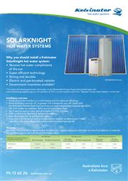 Kelvinator Solarknight Fact Sheet