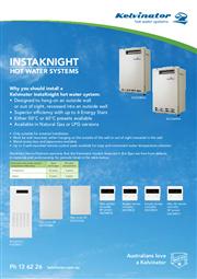 Kelvinator Instaknight Hot Water Fact Sheet