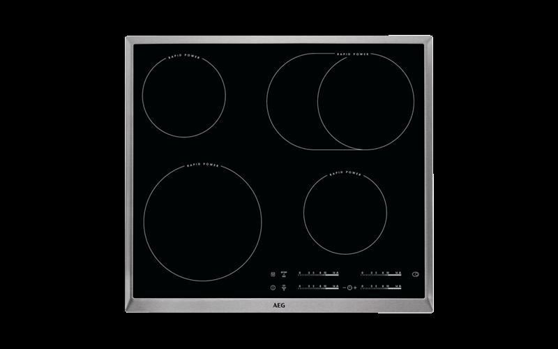 AEG 60cm 4 Zone Ceramic Cooktop - Commercial Exclusive HK654850XB