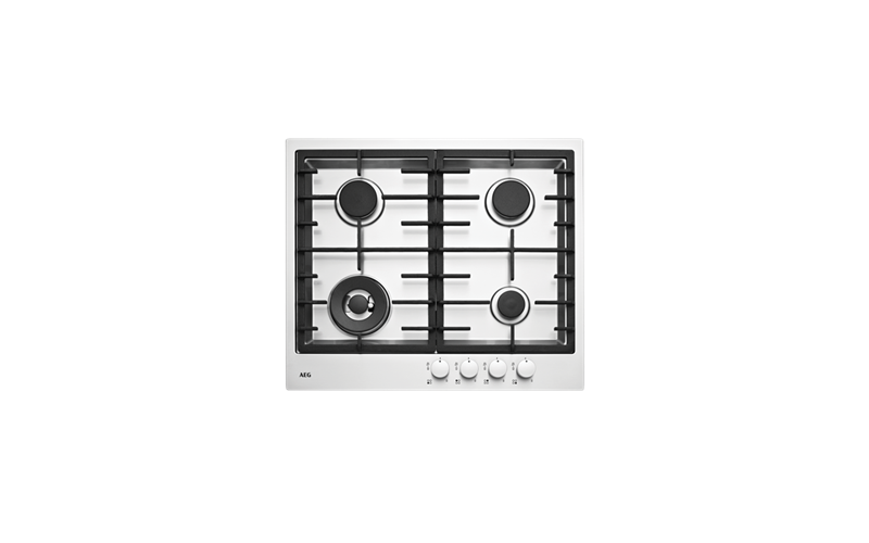 AEG 4 Burner Gas Stainless Steel cooktop HG60FX-M
