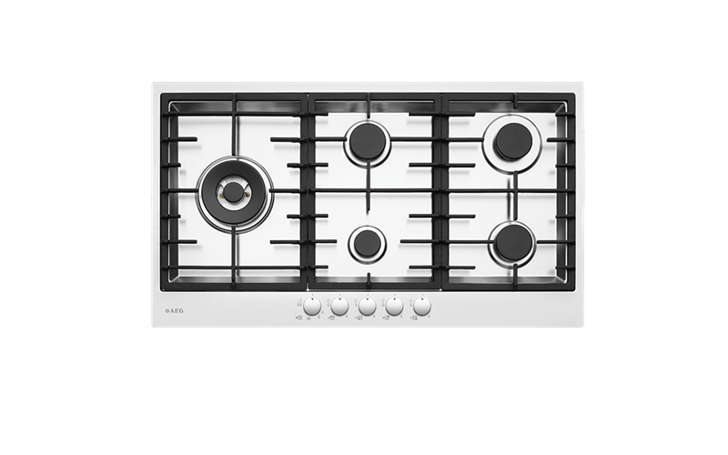 AEG 90cm 5 burner gas cooktop HG90FX-M
